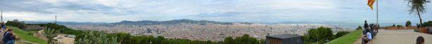 Panorama vom Jardí Botànic de Barcelona