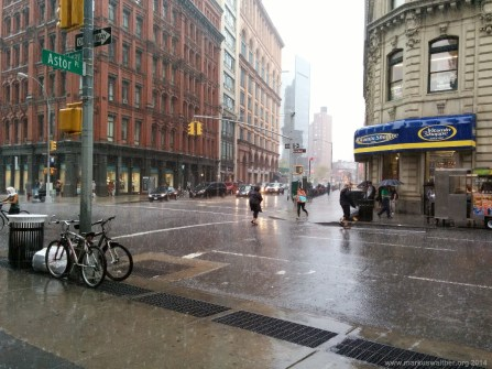 New York im schweren Regen
