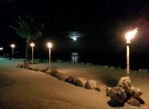 Der Mond im Lazy Days Restaurant, Islamorada , Florida Keys