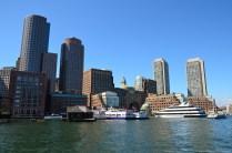 Blick auf Boston vom Hafen aus