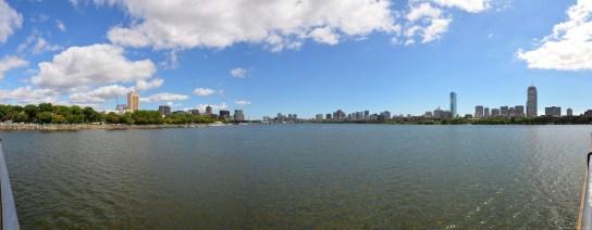 Panorama über das Charles River Basin in Boston