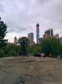 Felsgestein im Central Park New York