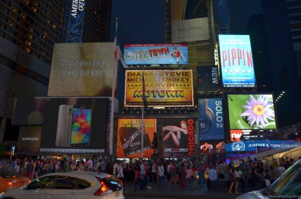 New York Times Square bei Nacht