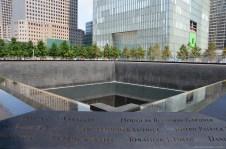 Blick auf das 9/11 Memorial New York