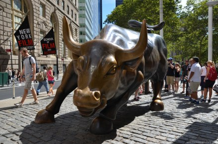 Charging Bull im Financial District New York
