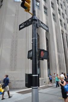 Ecke Wall Street und Broadway