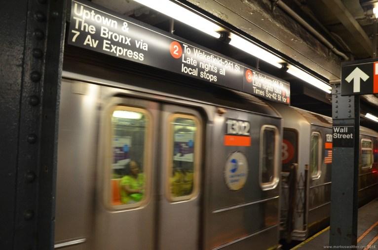Wall Street Station der New York City Subway