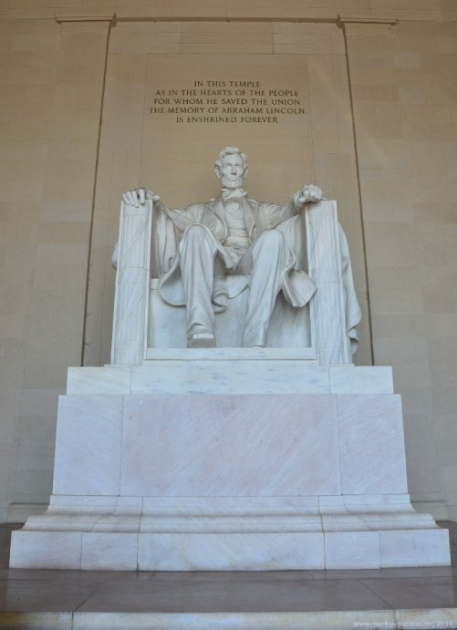 Im Lincoln Memorial, Washington DC