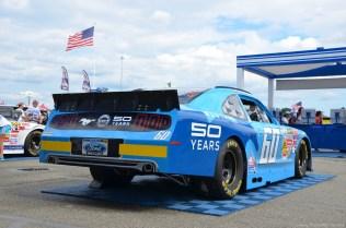 Heck des 2014 Ford Mustang 50th anniversary Autos beim NASCAR Sprint Cup auf dem RIR