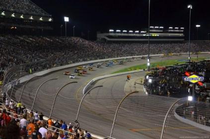 Double File Restart beim NASCAR Sprint Cup auf dem RIR