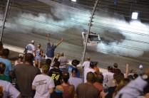 Burnout für den Sieg beim NASCAR Sprint Cup auf dem RIR