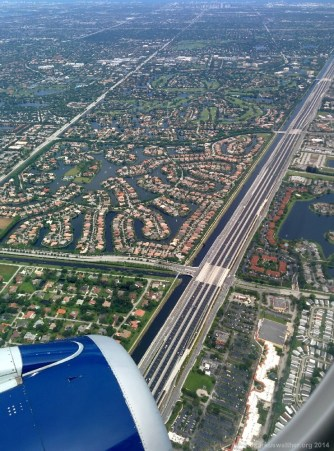 Anflug auf Fort Lauderdale-Hollywood International Airport