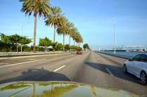 MacArthur Causeway nach Miami Beach