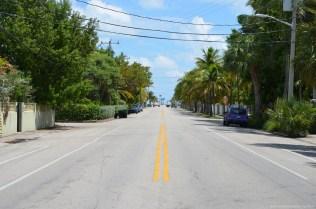 Straßenblick auf Key West