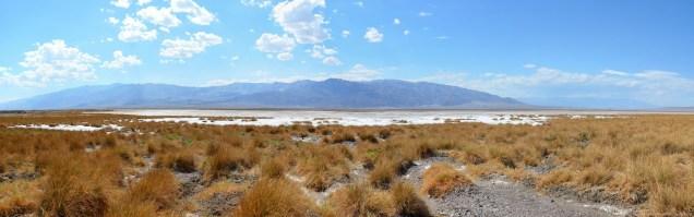 Panorama über die Salt Flats von Death Valley