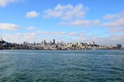 Blick über San Francisco von Alcatraz