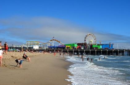 Santa Monica Beach mit Pacific Park