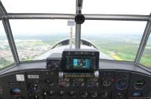 Blick aus dem Cockpit der JU-52