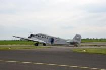 Blick auf die JU-52 in Mainz Finthen
