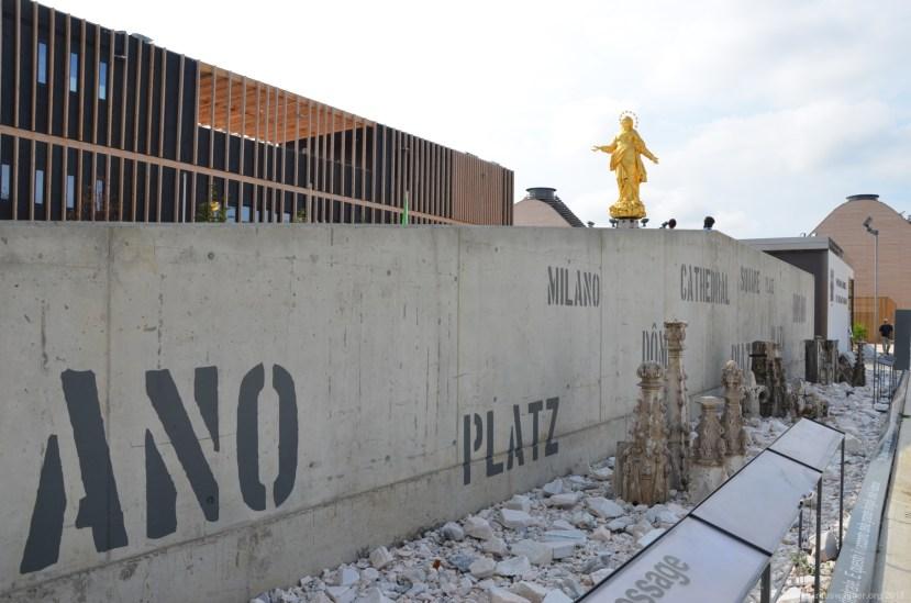 Mauer auf der Expo 2015