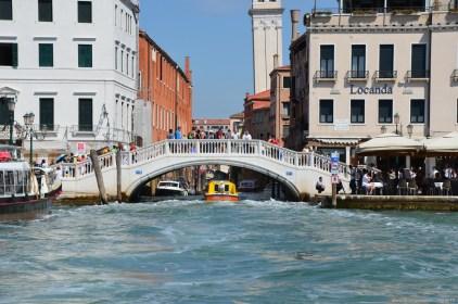 Blick in einen Kanel in Venedig, Italien