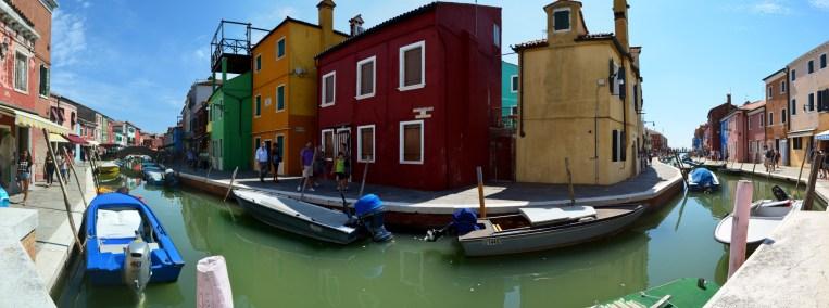Panorama Fondamenta degli Assassini, Burano, Venedig, Italien
