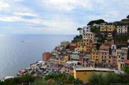 Blick auf Riomaggiore, La Spezia, Italien