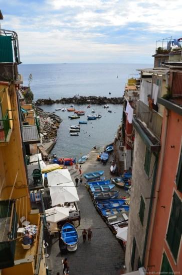 Die Bucht von Riomaggiore, La Spezia, Italien
