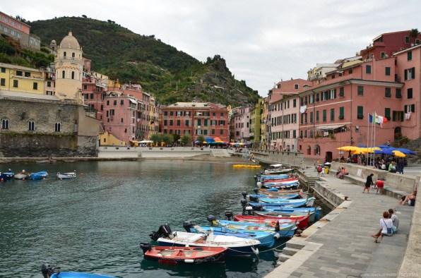Blick auf Vernazza, La Spezia, Italien