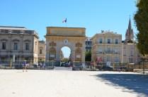 L'arc de triomphe de Montpellier vom Place royale du Peyrou