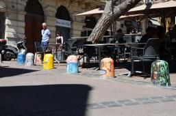 Begrenzungssteine - Streetart in Montpellier
