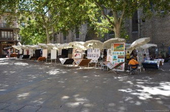 Künstlermarkt in Barcelona