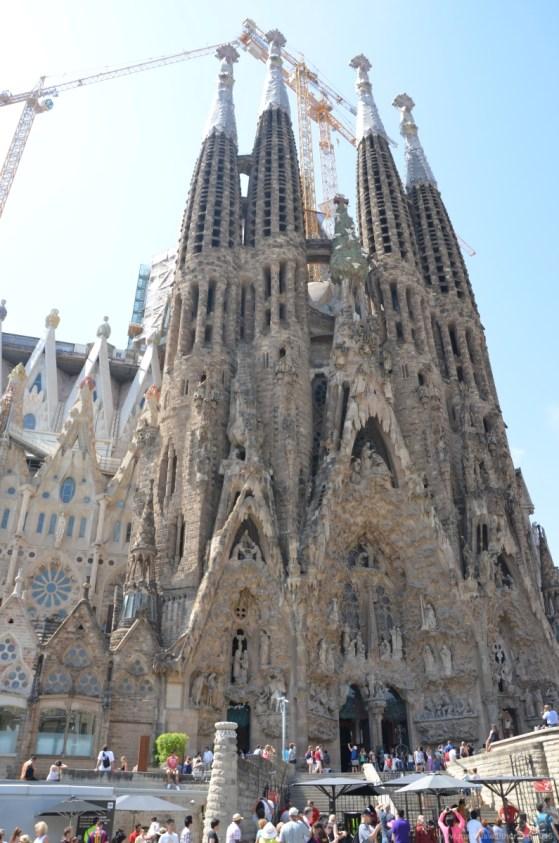 Blick auf die Türme der Sagrada Família, Barcelona