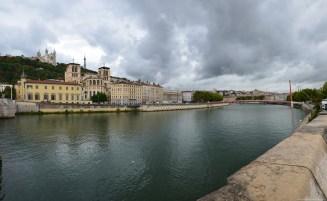 Panorama über die Saône