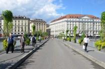 auf der Pont des Bergues, Genf