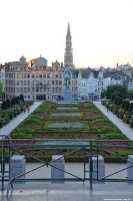 Blick vom Mont des Arts auf Brüssel