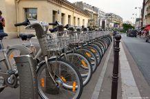 Fahrräder am Porte Maillot