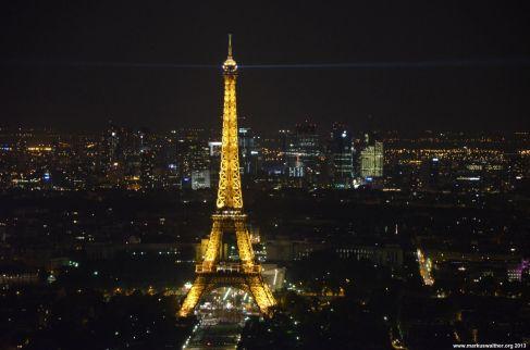 Eiffelturm und La Defense vom Tour Montparnasse