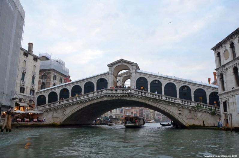 Ponte di Rialto vom Canal Grande