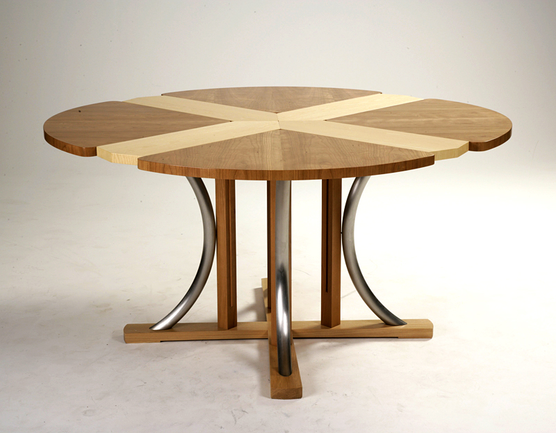 bespoke dining table and chairs by Mark Williamson Furniture