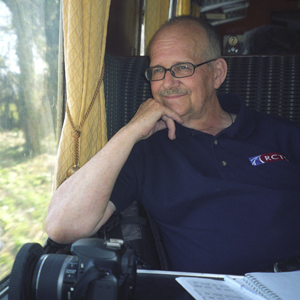 Kenrick Wilson: 12/9/1945-9/5/2009. Riding on a heritage railway somewhere, in his RCTS Polo Shirt.