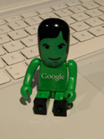 Little green Google man from Google Developer Day 2008