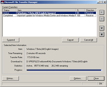 Microsoft File Transfer Manager