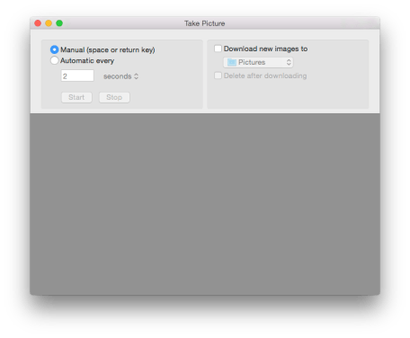 Take photos with OS X Image Capture