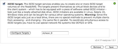 Creating an iSCSI target on a Netgear ReadyNAS - markwilson it