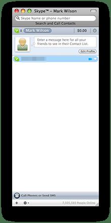 Skype main page