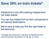 The Trainline claims to save travellers 39% on average compared with buying a ticket at the station on the day