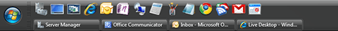 Large icons in the Quick Launch Toolbar