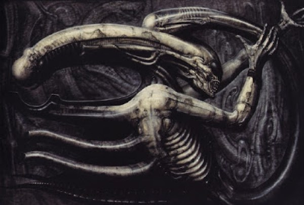 Le Necronomicon IV de H.R Giger, furtivement aperçu sur la table de travail de David dans Alien : Covenant