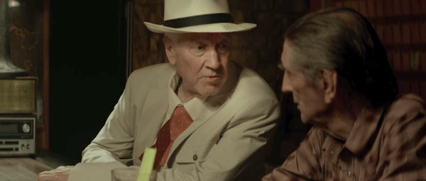 Howard (David Lynch) et Lucky (Harry Dean Stanton) dans Lucky